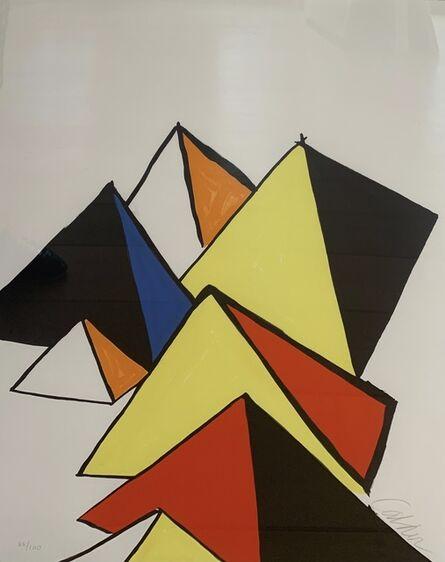 Alexander Calder, '7 pyramids', 1970