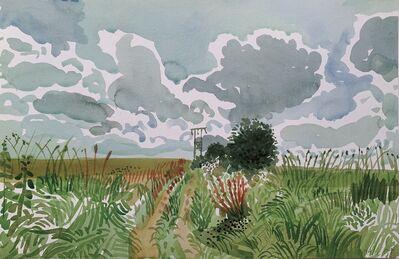 David Hockney, 'Cart Track and Pylon', 2004