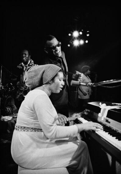 Jim Marshall, 'Aretha Franklin, Ray Charles & King Curtis Fillmore West', 1971