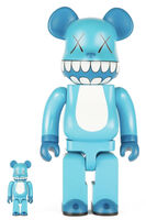 KAWS, 'CHOMPERS BE@RBRICK 400% AND 100% (SET OF TWO)', 2003