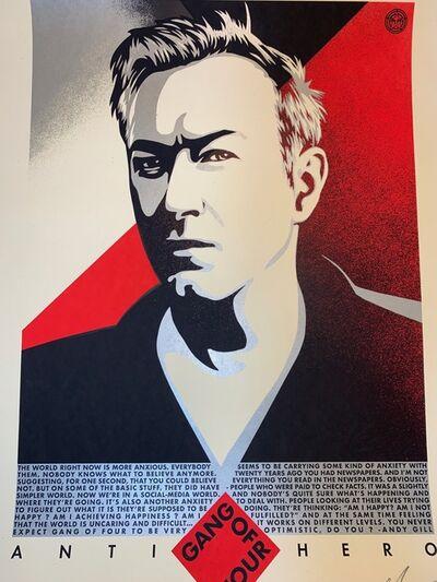 Shepard Fairey, 'Shepard Fairey Obey Giant Andy Gill Anti Hero Art Print Signed XX/400 Gang Of 4', 2020