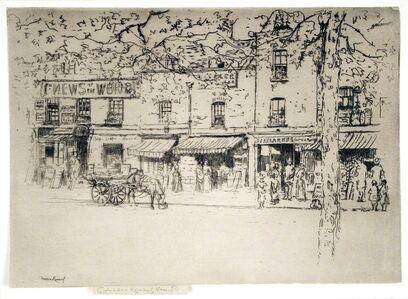 Theodore Roussel, 'The Street, Chelsea Embankment', 1888