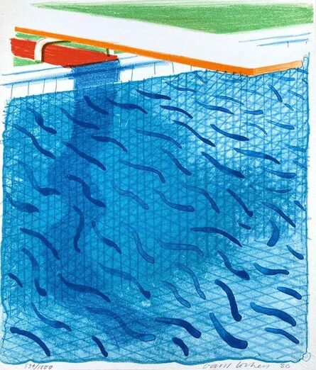 David Hockney, 'Pool Made with Paper and Blue Ink ', 1980