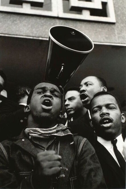 Steve Schapiro, 'Martin Luther King Jr. Megaphone with John Lewis and Andrew Young', 1965