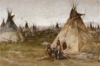 Ernest Chiriacka, 'Arapahoe Camp', not dated