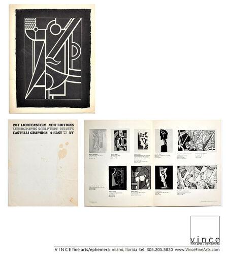 """Roy Lichtenstein, '""""New Editions, Lithographs, Sculpture Reliefs"""", Invitation/Mailer, Leo Castelli Gallery NYC', 1970"""