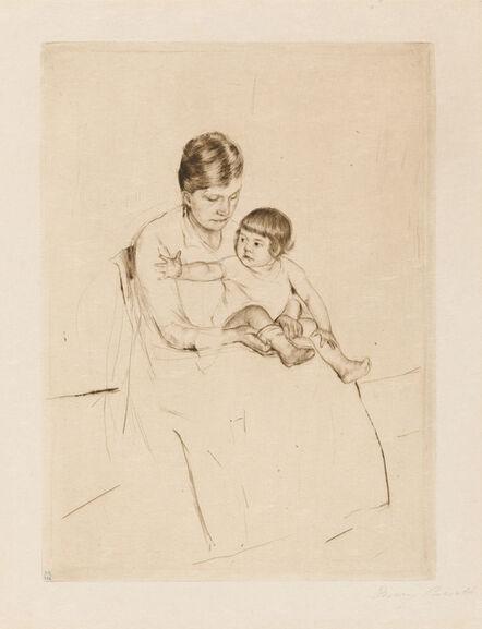 Mary Cassatt, 'The Stocking', 1890