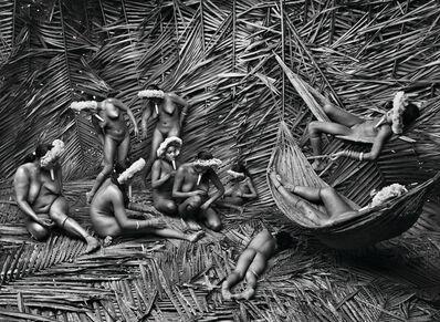 Sebastião Salgado, 'Women in the Zo'é village of Towari Ypy color their bodies with the red fruit of the urucum. Pará, Brazil', 2009