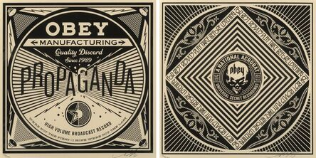 Shepard Fairey, 'Quality Discord and National Acrobat from Sound & Vision Obey: 50 Shades of Black box set (two works)', 2014