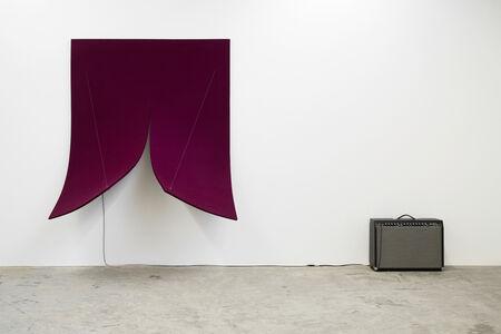 Naama Tsabar, 'Work on Felt (Variation 8), Bordeaux', 2016