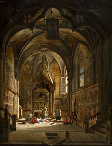 Vincenzo Abbati, 'Interior of a cathedral'