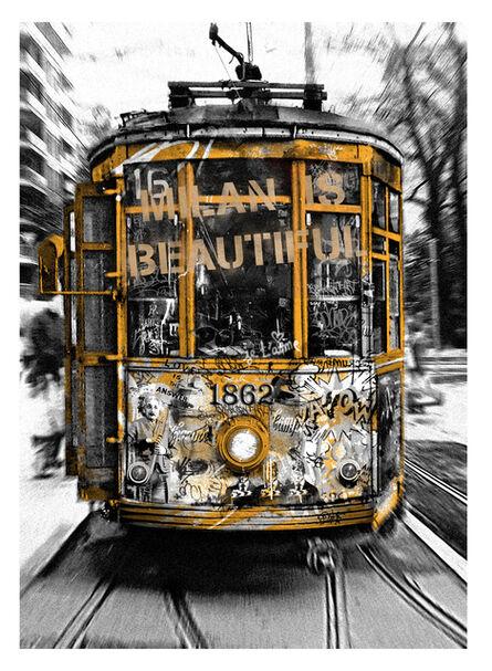 Mr. Brainwash, 'Milan is Beautiful - Tram Gold', 2019