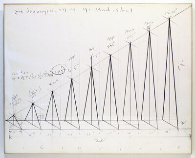Cris Gianakos, '2nd Drawing/Ward's Island Ramp Structure 10.24.1978', 1978