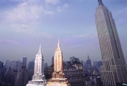 Robert Funk, 'Three Empire State Buildings', 1976