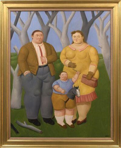 Fernando Botero, 'Familia en el campo', 2017