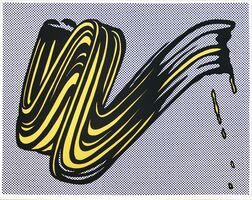 Roy Lichtenstein, 'Brushstroke', 1965
