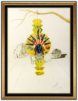 Salvador Dalí, 'Salvador Dali American Clock Time Hand Signed Color Lithograph Surreal Artwork', 1976