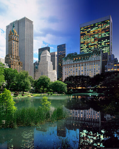 Andrew Prokos, 'Night & Day - Central Park Pond and Plaza Hotel ', 2015
