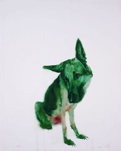 Zhou Chunya 周春芽, 'Green Dog ', 2011