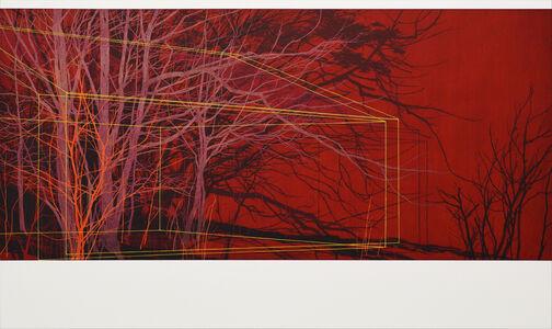 Andrew Mackenzie, 'Building, Trees 7 (red)', 2019