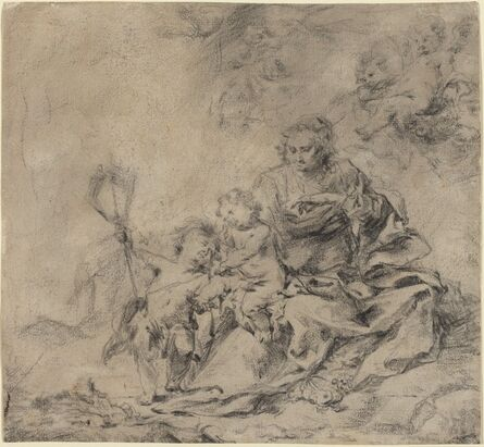 Cornelis Schut I, 'The Virgin and Child with John the Baptist'