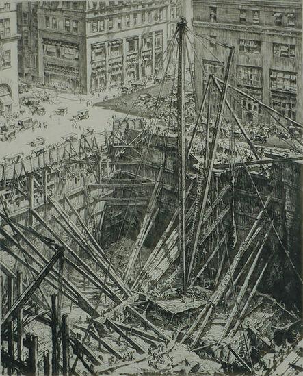 Muirhead Bone, 'Manhattan Excavation', 1923-28