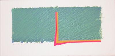 Richard Smith (1931-2016), 'Horizon III (green, pink, yellow and ochre)', 1970