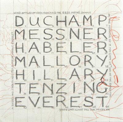 Hamish Fulton, 'The Names of Seven Men.Nepal 2009', 2009