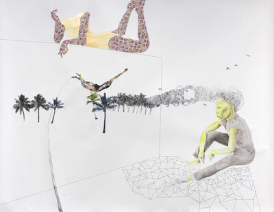 Ruby Onyinyechi Amanze, 'with the galaxy beneath her, she remembered the magic of soaring amidst coconut clouds   ', 2014
