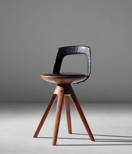 Edvard and Tove Kindt-Larsen, 'Rare swivel stool', circa 1957