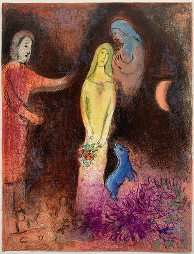 Marc Chagall, 'Chloé is dressed and braided by Cleariste', 1961