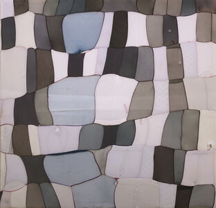 Turiya Magadlela, 'Khala, Colour, Color, Imibala, composition in greys and blue', 2020