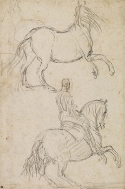 Diego Velázquez, 'Studies of Rearing Horse and Horseman', ca. 1625-35