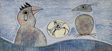 Max Ernst, 'Composition in Blue', (Date unknown)