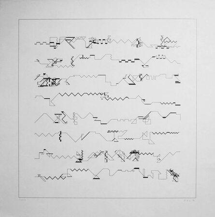 Manfred Mohr, 'P-021+', 1970