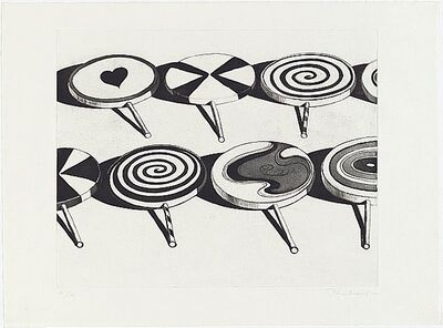 Wayne Thiebaud, 'Black Suckers (from Seven Still Lifes and a Silver Landscape)', 1971