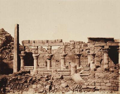 Félix Teynard, 'Ile de Fîleh (Philae) - South Building and Part of Western Colonnade, Nubia', 1851 / 1851