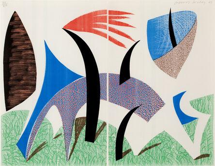 David Hockney, 'Diptychon', 1989