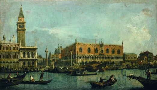 Canaletto, 'Canal of San Marco with the Piazza San Marco', 1730s