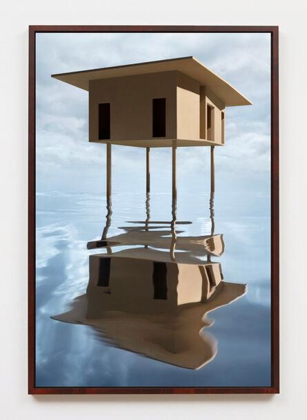 James Casebere, 'Tan House on Stilts', 2019