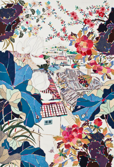 Mi Young Je, 'House with flowers', 2015