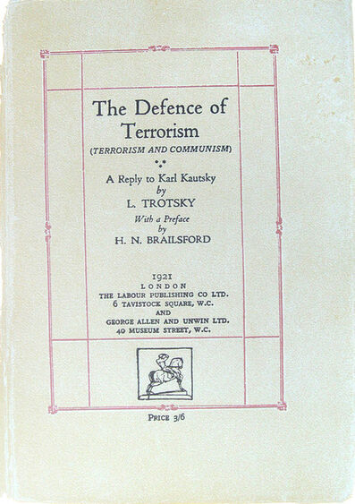 R. B. Kitaj, 'The Defence of Terrorism. [from (In Our Time: Covers for a Small Library)],', 1970