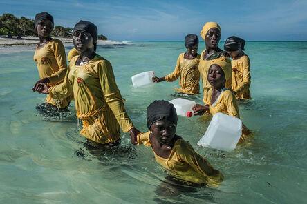 Anna Boyiazis, 'Kijini Primary School students walk to shore after a swimming lesson, Muyuni Beach, Zanzibar, 2016', 2016