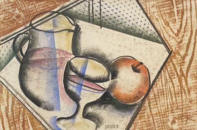 Donald Deskey, 'Pitcher, Glass, and Apple', ca. 1925