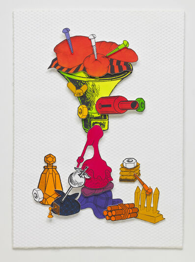 Teppei Kaneuji, 'Games, Dance and the Constructions (Color thick paper) #8', 2014