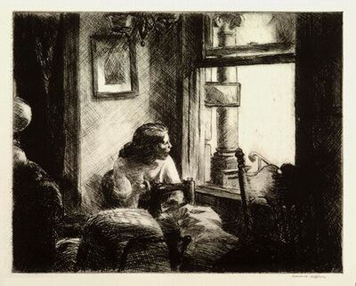 "Edward Hopper, '""East Side Interior""', 1922"