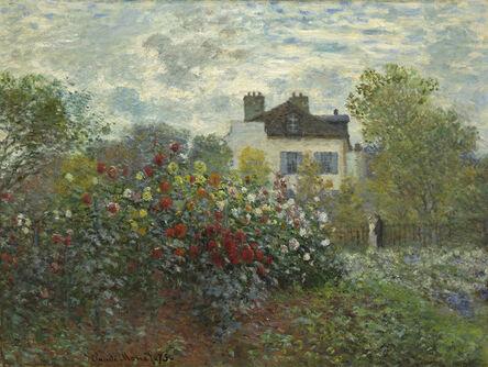 Claude Monet, 'The Artist's Garden in Argenteuil (A Corner of the Garden with Dahlias)', 1873