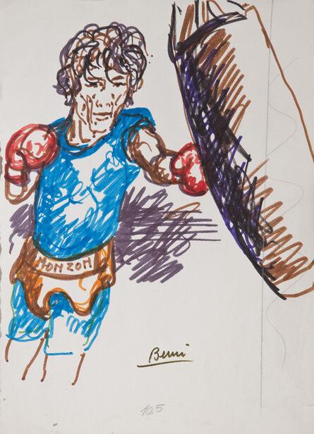 Antonio Berni, 'Sin Título (Carlos Monzón)', 1977