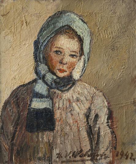Henri-Victor Wolvens, 'Marie-Anne à l'écharpe bleu', 1942