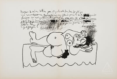 Pablo Picasso, 'Reclining Nude from Derrière Le Miroir', 1964